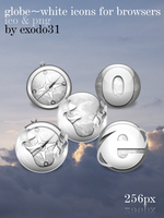 globe-white icons for browsers by exodo31