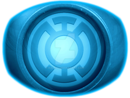 Blue Lantern Ring Coloured by KalEl7