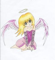 Copic Practice: Angel by someauzziechick