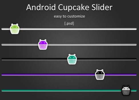 Android Cupcake Slider by mtzGrafen