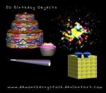 3d Birthday Stock Objects by DemoncherryStock