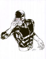 cyclops bust inks by TonyKordos