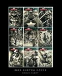 Marvel Sketch Cards 001 by The-Hand