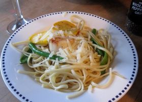 Summer Vegetable and Seafood Pasta by citizenofrohan