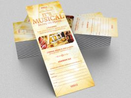 Musical Concert Ticket Template by Godserv