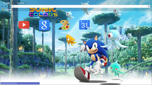 Sonic Colors Chrome Theme (1360x768) by Natakiro