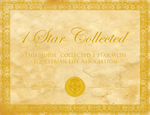 1 star collected - Certificate for horses by SilviasDesires