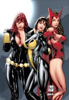 3 Marvel girls coloured by ginmau