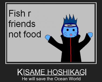 Kisame Fish are Friends by Deidarafan111