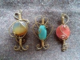 Pendants - set 4 by UEdkaFShopie
