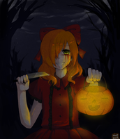 PG HALLOWEEN 2012: THE GIRL IN THE FOREST by 7mint-and-chocolate