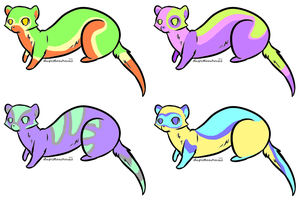 Ferret Adoptables - OPEN - 10 Points Each by KittyKittysune