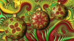 Fractal Kaleidoscope Christmas Ornaments by wolfepaw