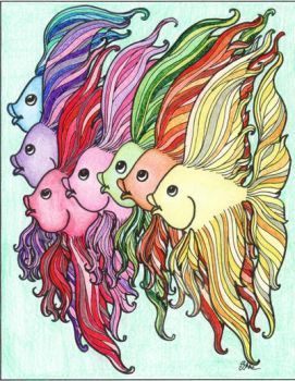 Rainbow fishes by Ingalill82