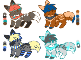 : OPEN : Doggie Adoptables ! by EC-Adopts