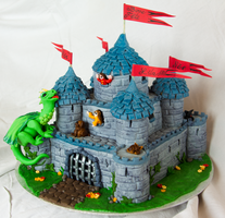 Dragon Castle Cake by Shoshannah84