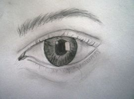 Eye drawing by Just-A-DreamerXo