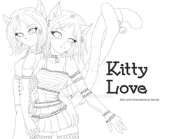 Kitty Love Title - Line Art by Nonzev
