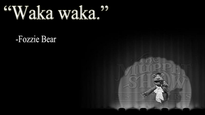 Fozzie Bear Wallpaper (Black and White) by JanetAteHer
