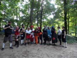 Whole group of the Naruto-RP Survival-camp by Master-Kankuro