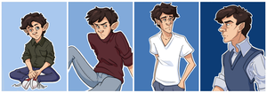 Rylan through the ages by pai-draws