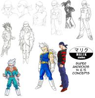 DBNA Daizenshuu - Super Androids concepts by MalikStudios