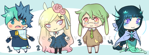 Chibi Adoptables Batch [closed] by Canterell