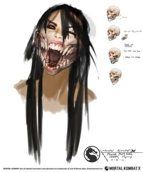 MKX Mileena mouth anatomy by Raggedy-Annedroid