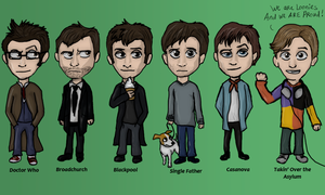 David Tennant in different serials by Speck--Of--Dust