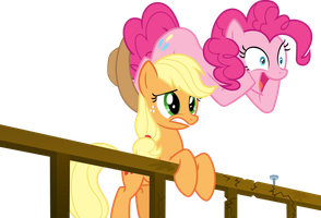 Applejack and Pinkie Pie Vector by TheFrostSpark