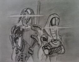 sketches Tali/Legion (5) by spaceMAXmarine