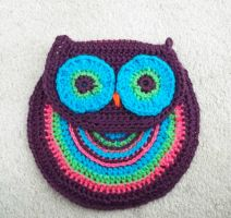 Crocheted Owl Purse by poisons-sanity