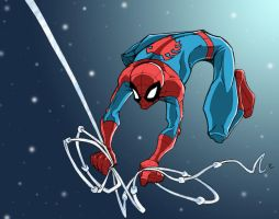 Spidey... Again_Colored by vonblinden22