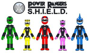 Power Rangers S.H.I.E.L.D. by MCsaurus