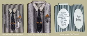 Gents Black and White Shirt Card by blackrose1959