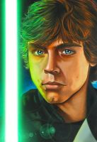 Star Wars portraits: Luke by vividfury
