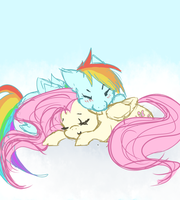 Flutterdash cuddles by yuripaws
