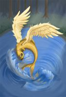 flying fish colored by azzuri27
