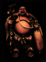 Standing Buddha :: Backdrop by FAIA-Fractals
