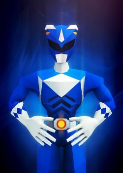 Blue Ranger by InkTheory