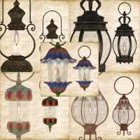 Lamps by Just-A-Little-Knotty