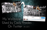 Cody Rhodes uses my wallpaper on twitter! by TheElectrifyingOneHD