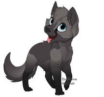 Wolf Pup Adoptable FREE - CLOSED by starscreamfan10100