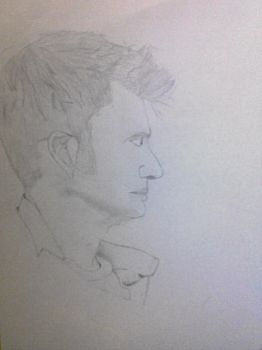 David Tennant Drawing by aleksandrina-aleksan