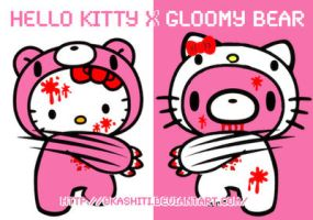 Hello Kitty x Gloomy Bear by OkashiTi
