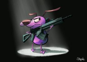 Courage The Not So Cowardly Dog by Stupchek