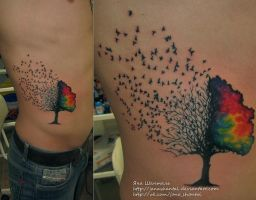 birds tree by janashantal
