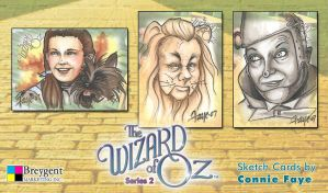 Wizard of Oz Series 2 Sketch Cards by ConnieFaye