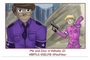 RvB  -Doc and Donut on Basebook by liliy