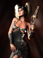 306-Deryn the Steampunk Pinup by lyonesskim